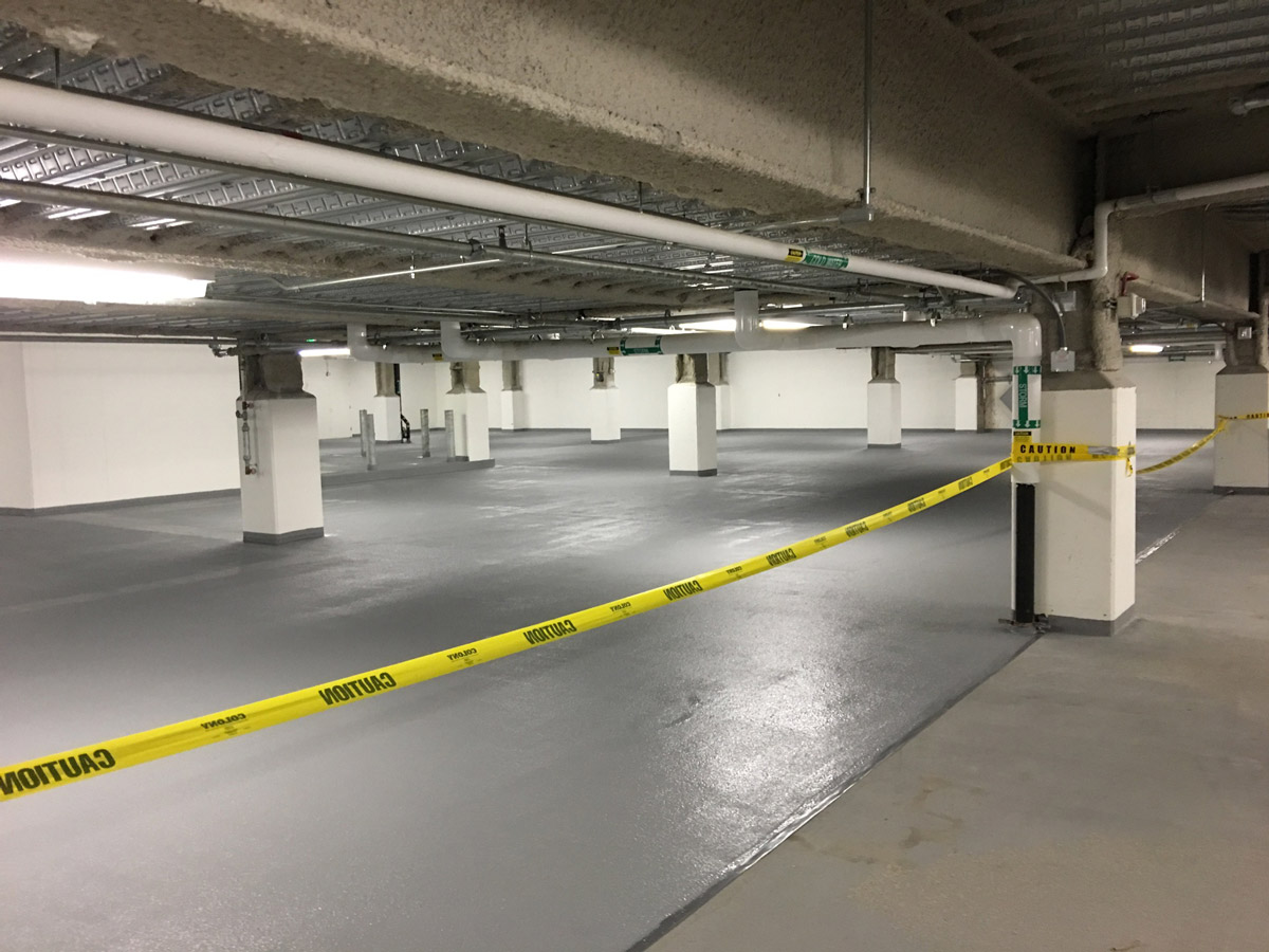 Epoxy Garage Floor Expansion Joints Parking Garage Repair P J Spillane Company Inc