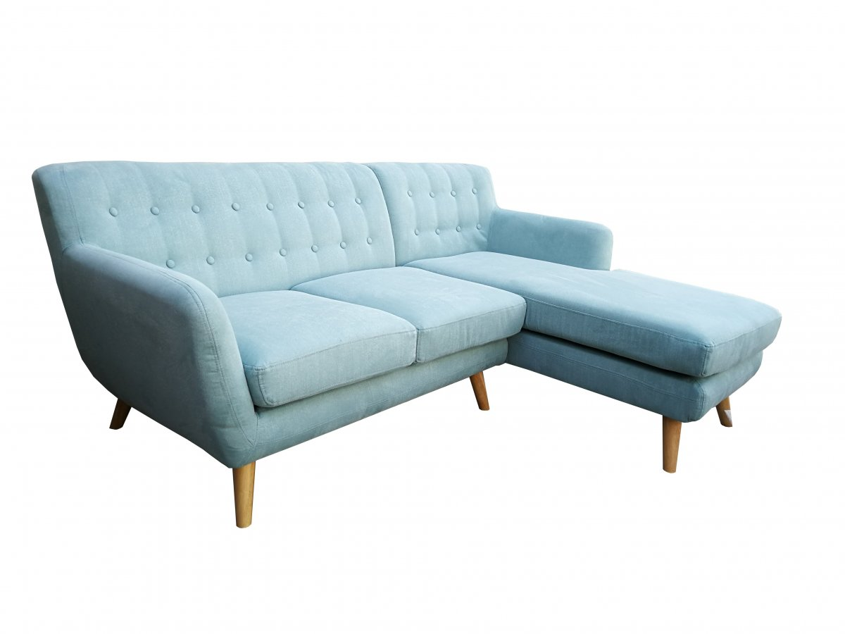 2 Seater Chaise Sofa   Mika 2 Seater With Chaise Tiffany Blue