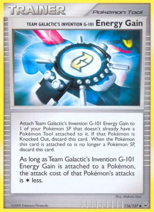 Energy Gain from Platinum
