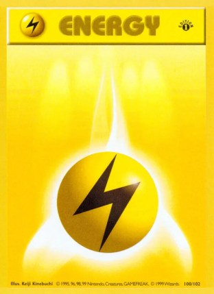 Lightning Energy from Base Set