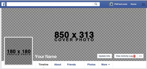 Free Facebook Cover Template Download  Tutorial - PktFuel
