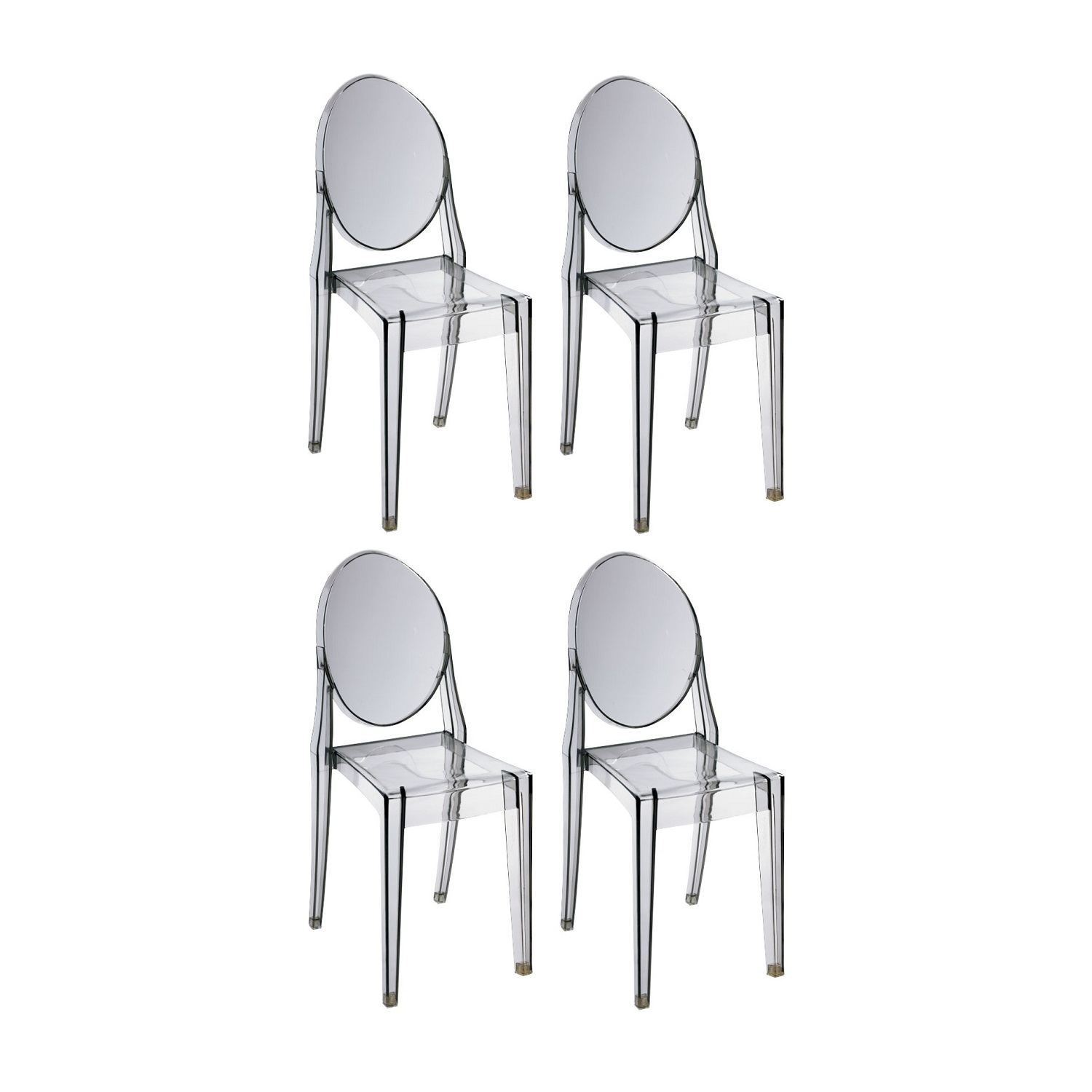 Philippe Starck Ghost Chair Replica Philippe Starck Victoria Ghost Chair Smoke Set Of 4