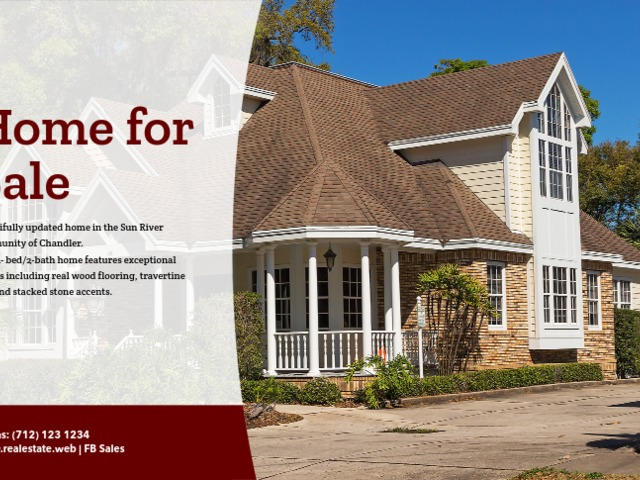 Placeit - Home for Sale Flyer Template with Realistic Photos