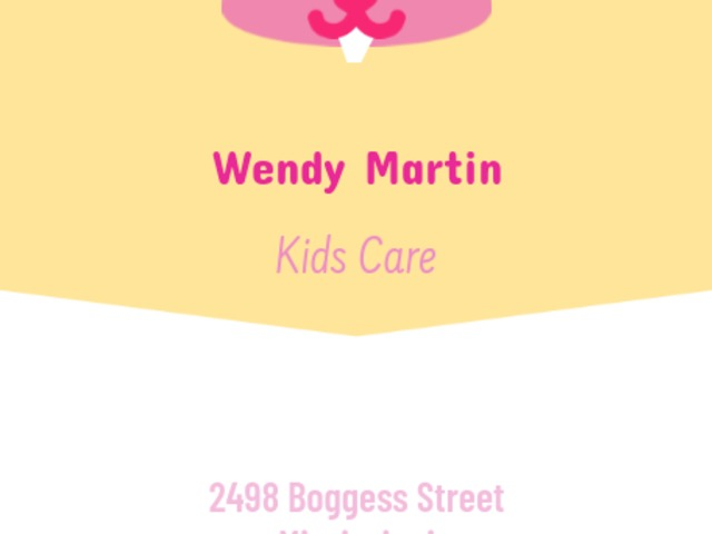 Placeit - Babysitting Business Card Maker with Vertical Format