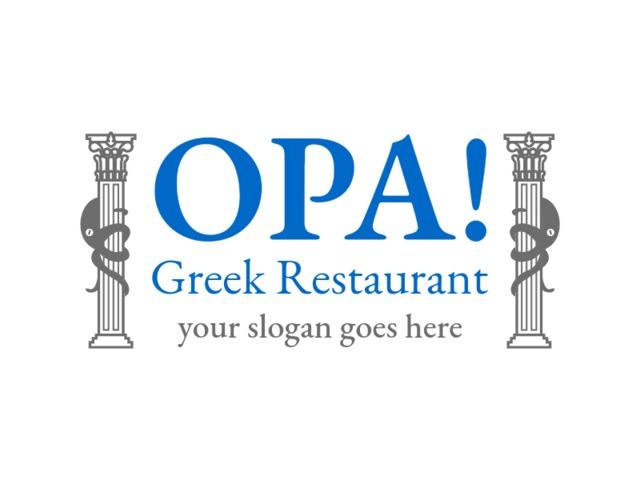 Placeit - Greek Restaurant Logo Maker with a Bold Design