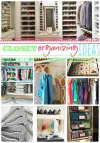 Closet organizing ideas so that you can find the one.