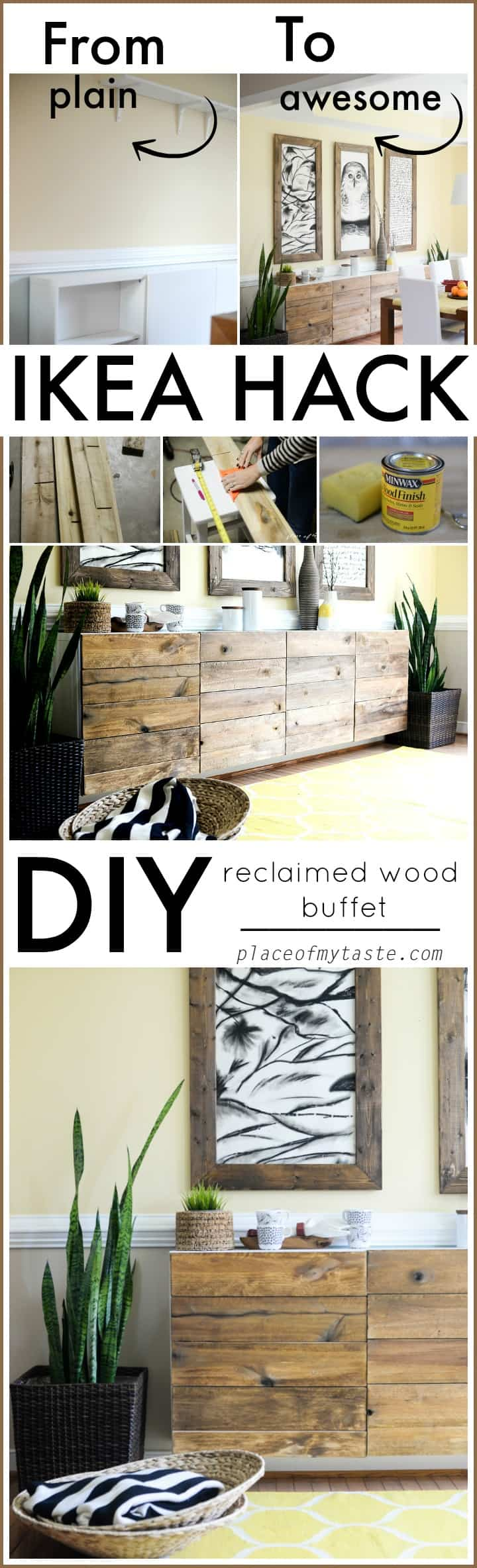 Ikea Hack Wohnzimmer Ikea Hacks Diy Reclaimed Wood Buffet