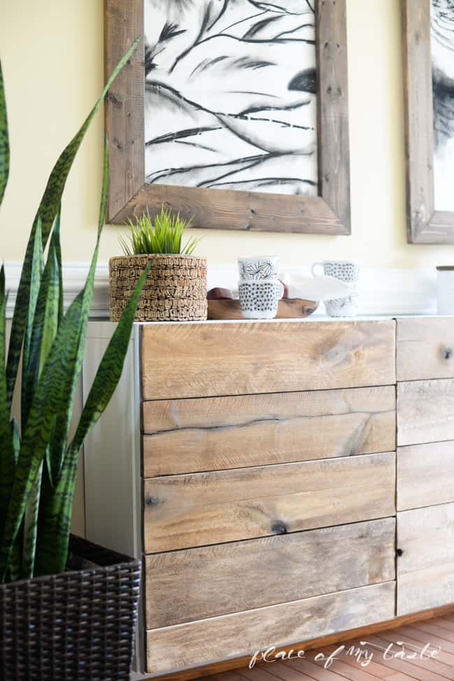 Ikea Hacks Diy Reclaimed Wood Buffet - Ikea Rückwand
