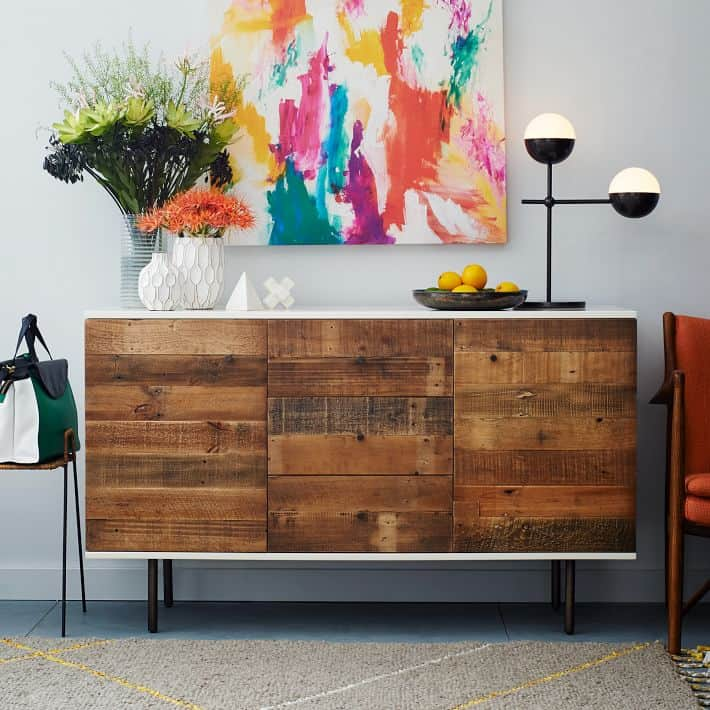 Vintage Kommode Mid Century Ikea Hacks - Diy Reclaimed Wood Buffet
