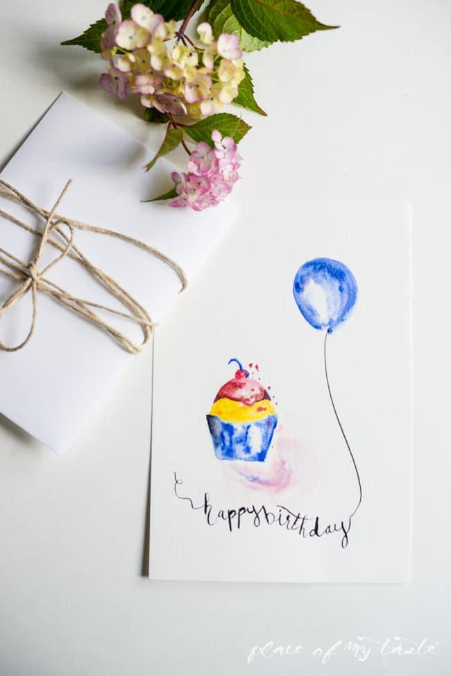 FREE WATERCOLOR BIRTHDAY PRINTABLES - PLACE OF MY TASTE