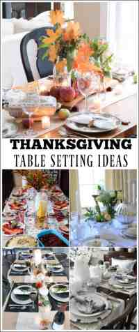 Beautiful Thanksgiving Table Setting Ideas {Work it ...