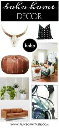 SHOP MY BOHO CHIC HOME DECOR STYLE - PLACE OF MY TASTE