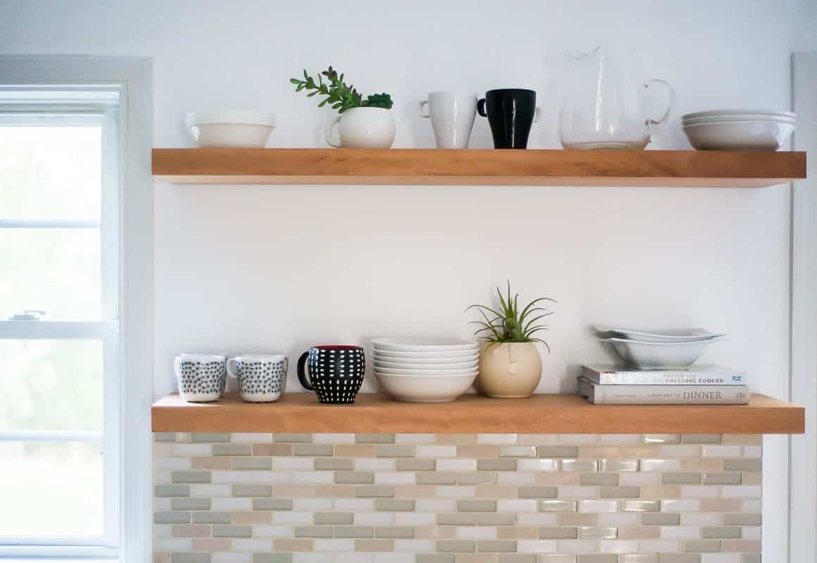 Kitchen Decorative Shelf Learn How To Hang Open Kitchen Shelves Floating Shelves