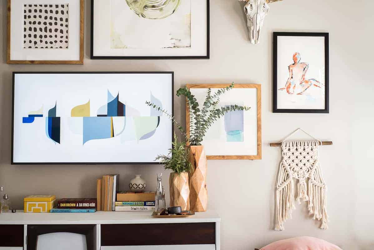 Wall Designs Pictures An Amazing Gallery Wall With The Frame Tv