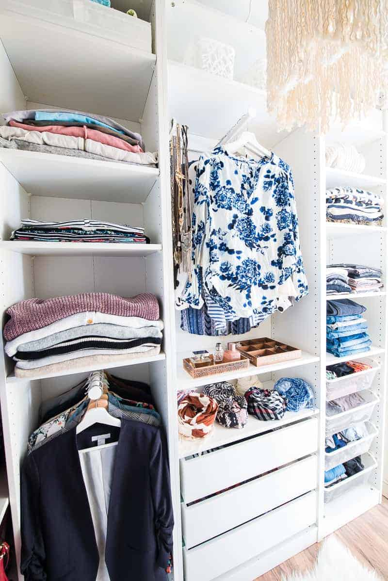 Ikea Wardrobe Tidy Walk In Closet Makeover With Ikea Pax Wardrobe This Is