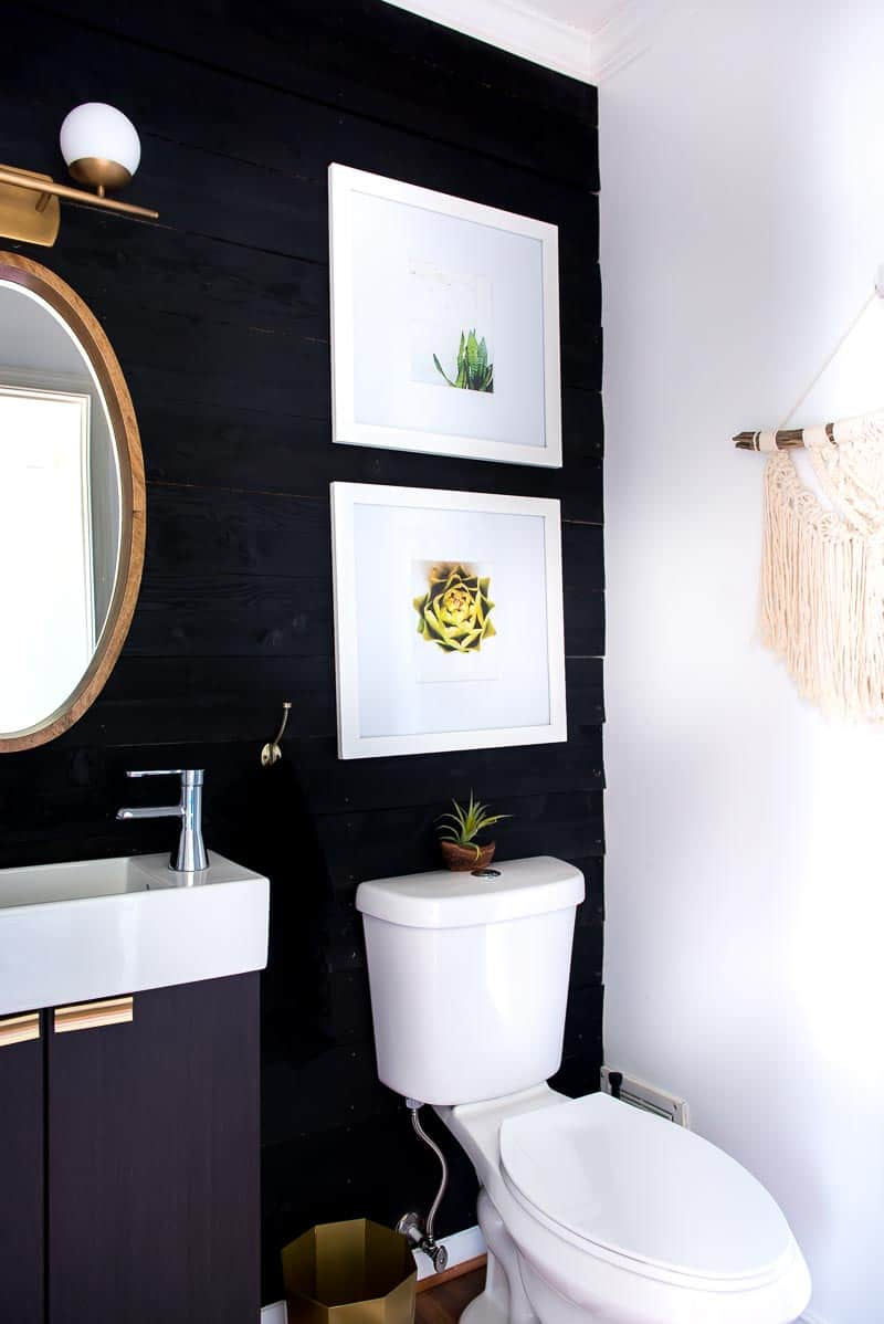 Black Accent Walls Black Shiplap Wall Under 50 Impressive Project