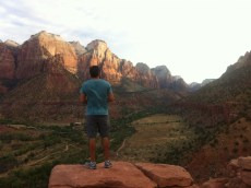 A sunrise hike at Zion National Park