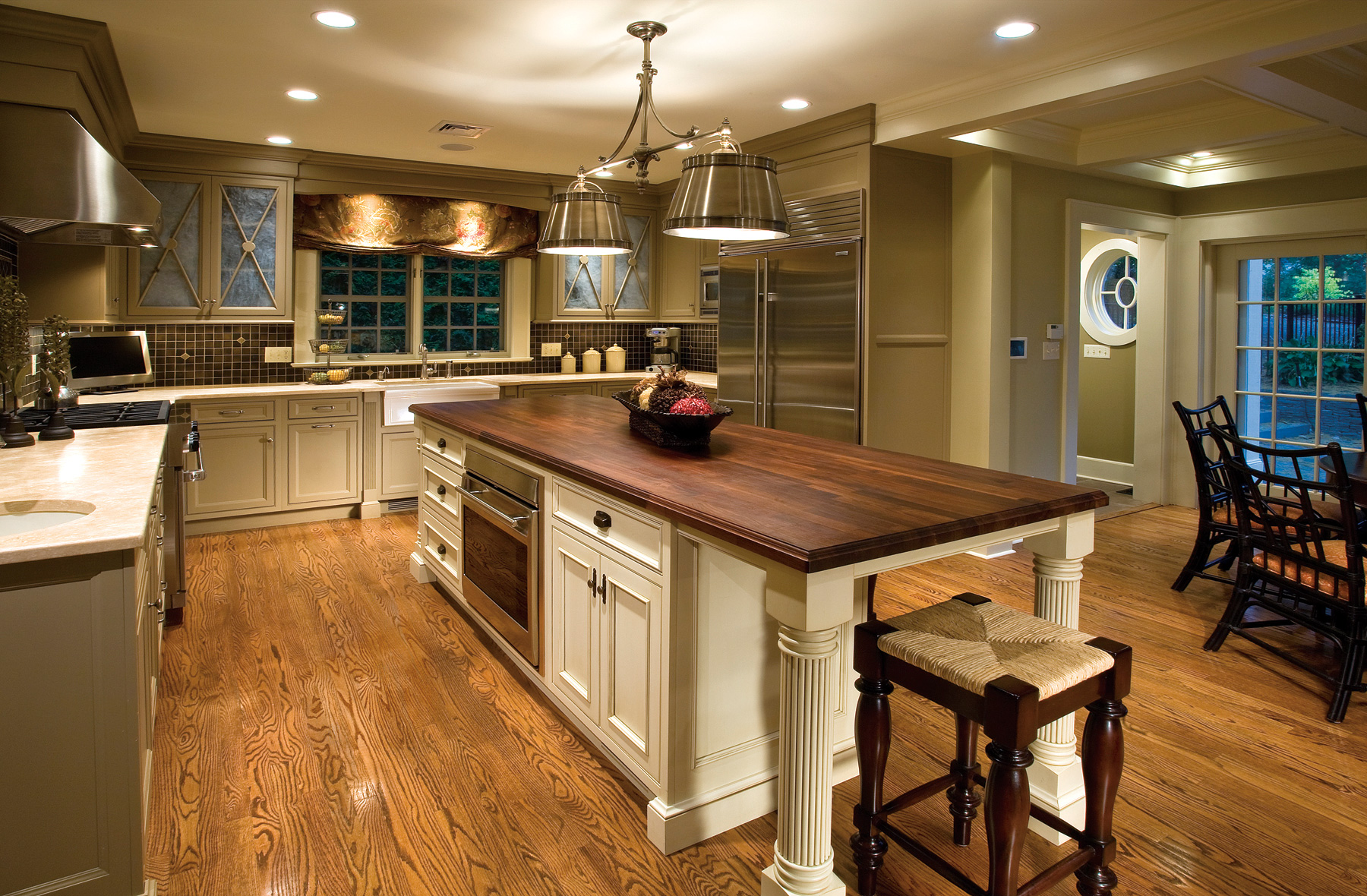 Heirloom Wood Countertops Traditional Kitchen With Charm And Polish Plain And Fancy