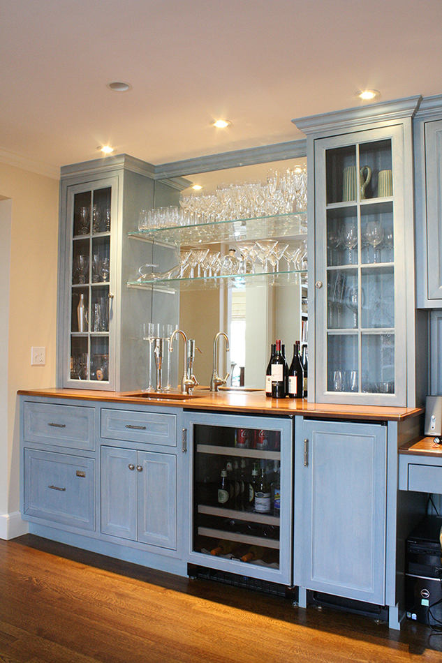 Glass Cabinet A Toast To Custom Cabinetry | Plain & Fancy