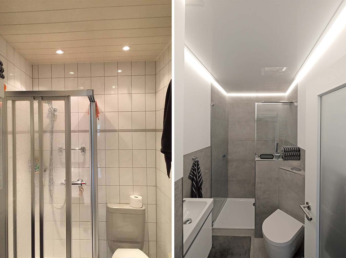 Led Im Bad Decke Led Stripes Im Badezimmer Plameco Decken Est 1982