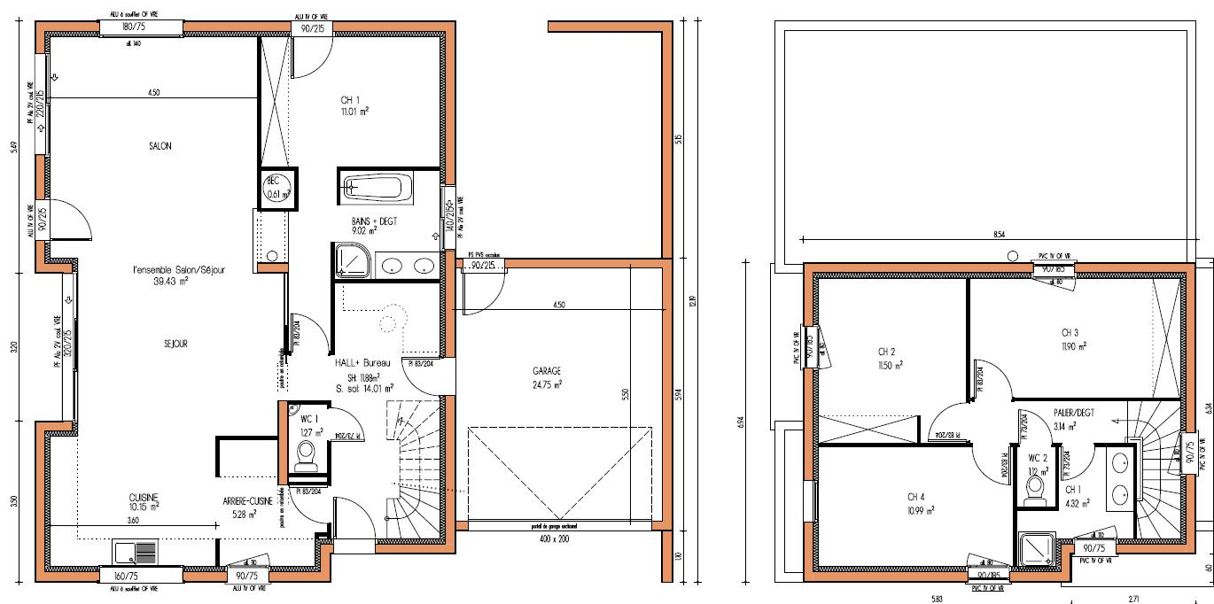 Plan De Masse Maison Gratuit Plan De Maison Rectangle Gratuit Plans Maisons