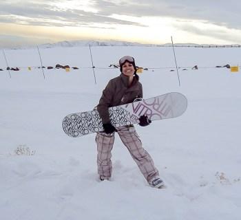 Julianny Moraes, instrutora de esqui da ABISS