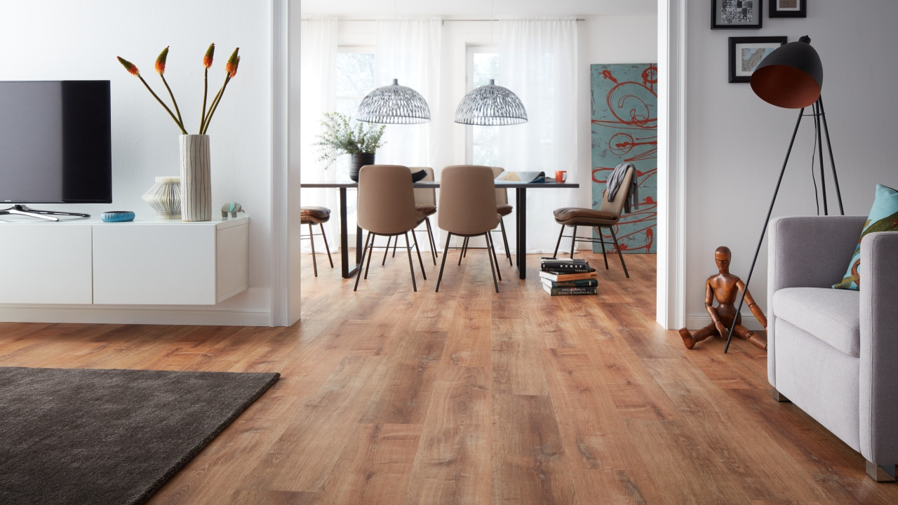 Parkettboden Reinigen Planeo Objekt Plus - Golden Oak Natural Klick-vinyl