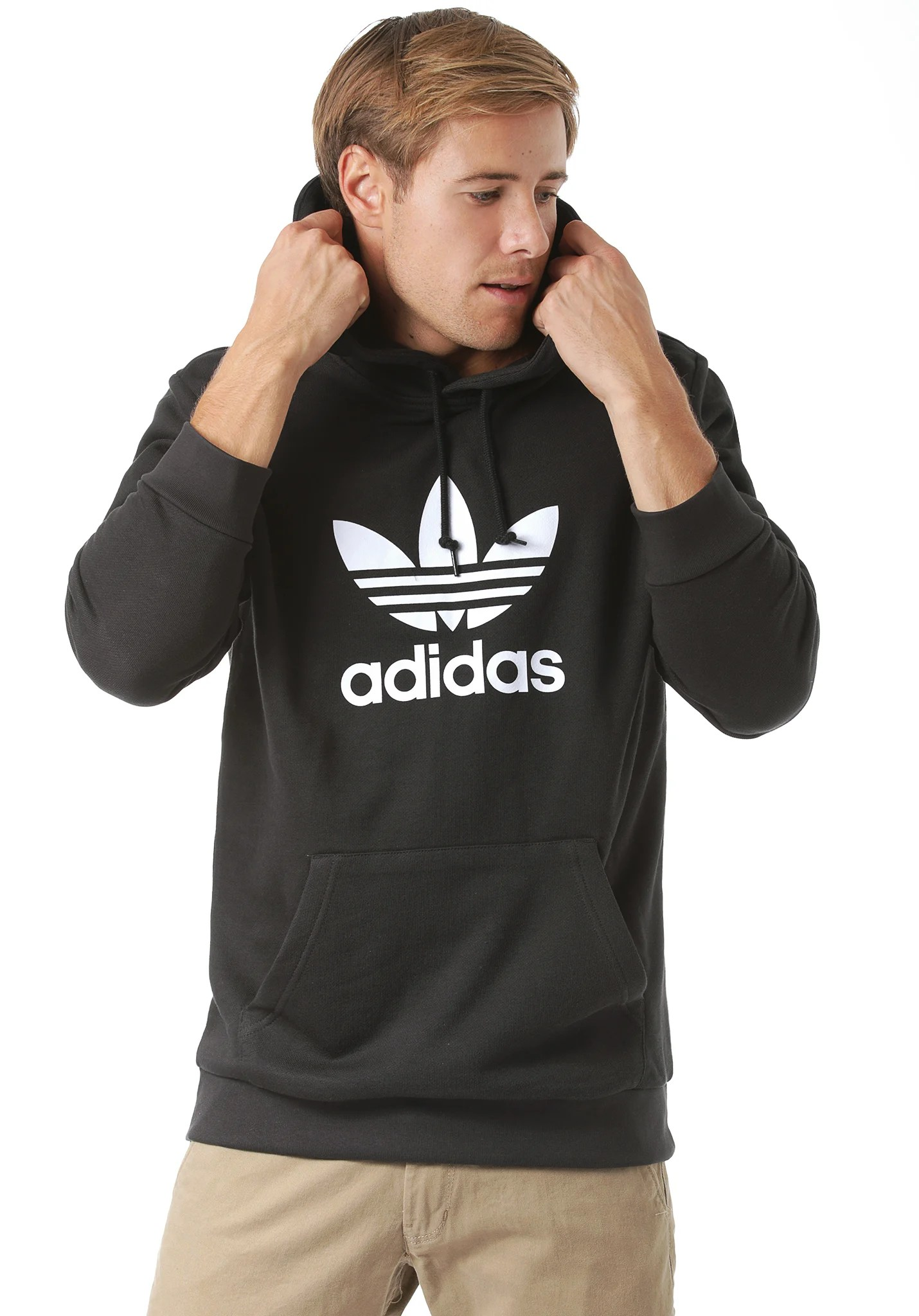 Adidas Sweatshirt Schwarz Herren Adidas Originals Trefoil Hooded Sweatshirt For Men Black