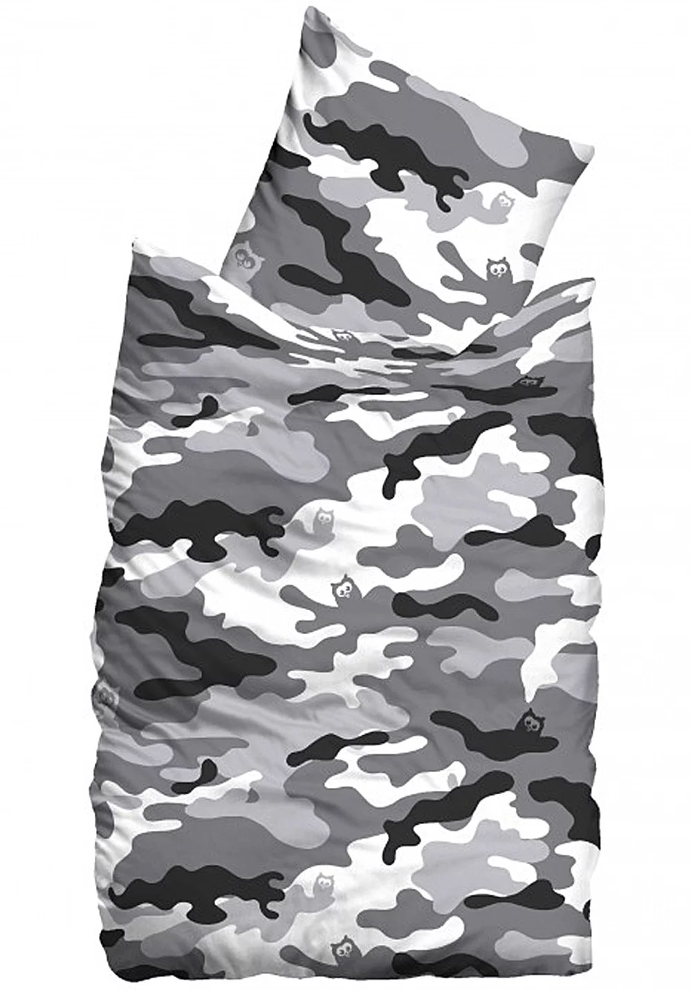 Camouflage Bettwäsche Suenos Missing In Action Snow Bedding Set 135x200 80x80cm Bettwäsche Camouflage