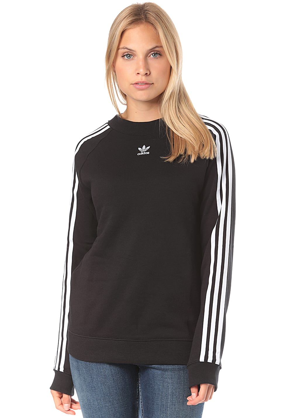 Adidas Sweatshirt Schwarz Herren Adidas Originals Trefoil Crew Sweatshirt For Women Black