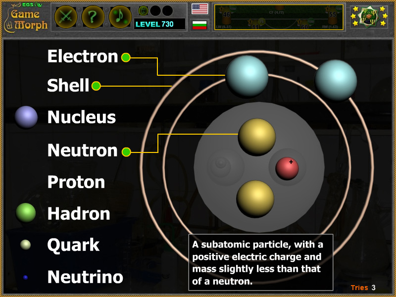 Atom Structure Puzzle Online Chemistry Game