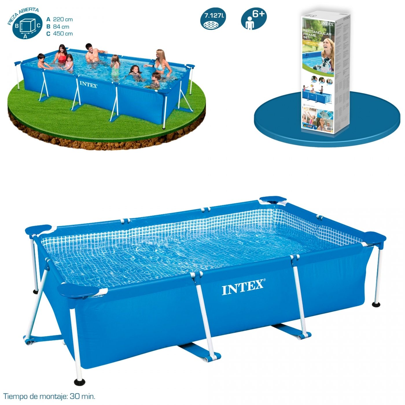Piscinas Intex Site Piscina Metal Frame 450 X 220 X 84 Cm Intex Em Planeta Huerto