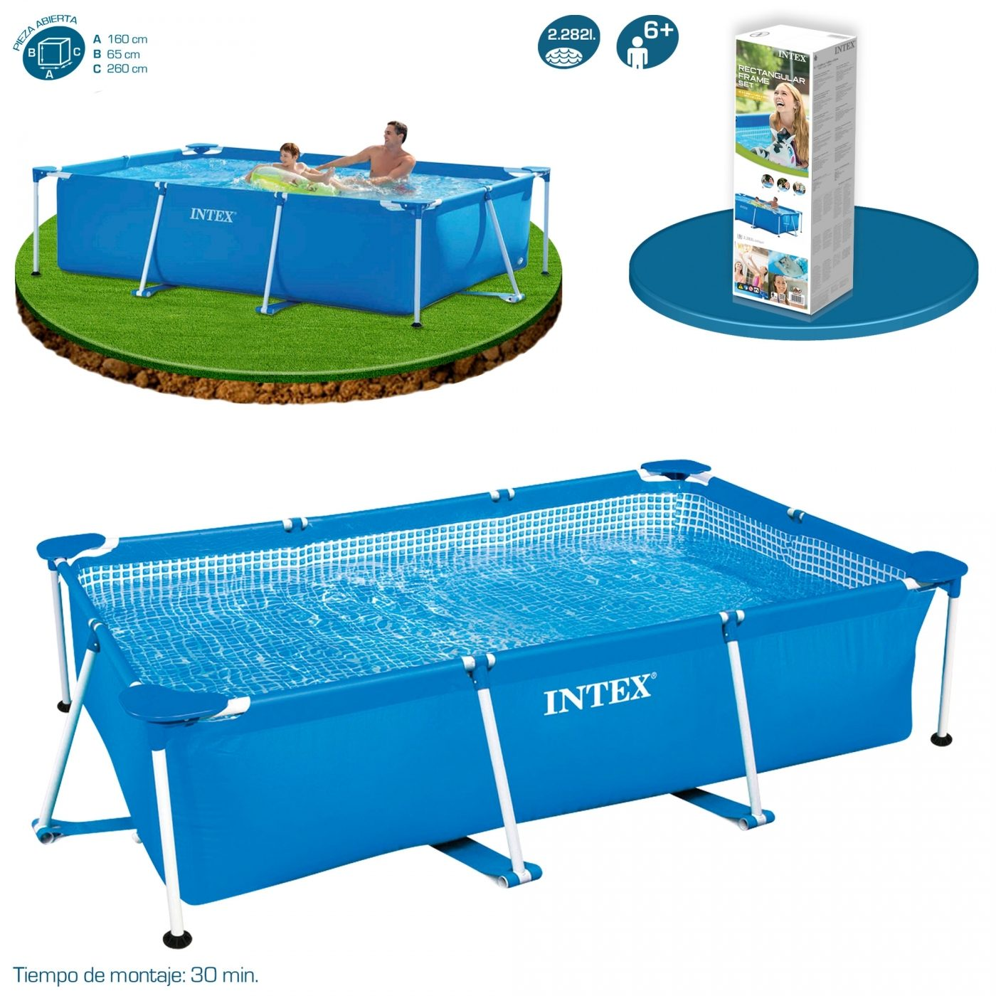 Piscinas Intex Site Piscina Small Frame 260 X 160 X 65 Cm Intex Em Planeta Huerto