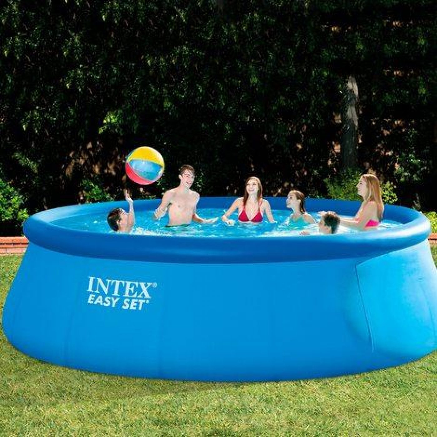 Intex Piscinas Acessorios Piscina Hinchable Intex Easy Set Con Aro Hinchable