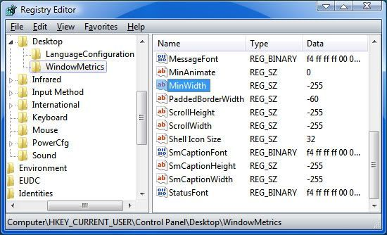 Modificando el Registro de Windows