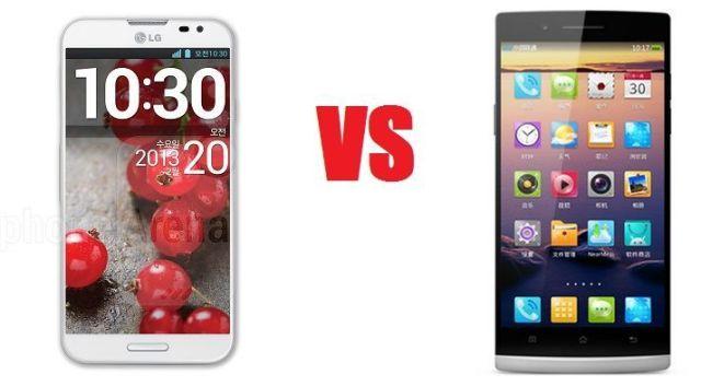 LG Optimus G Pro vs Oppo Find 5