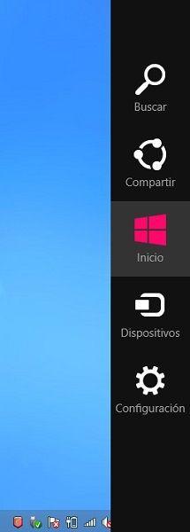 Barra de Charms Windows 8