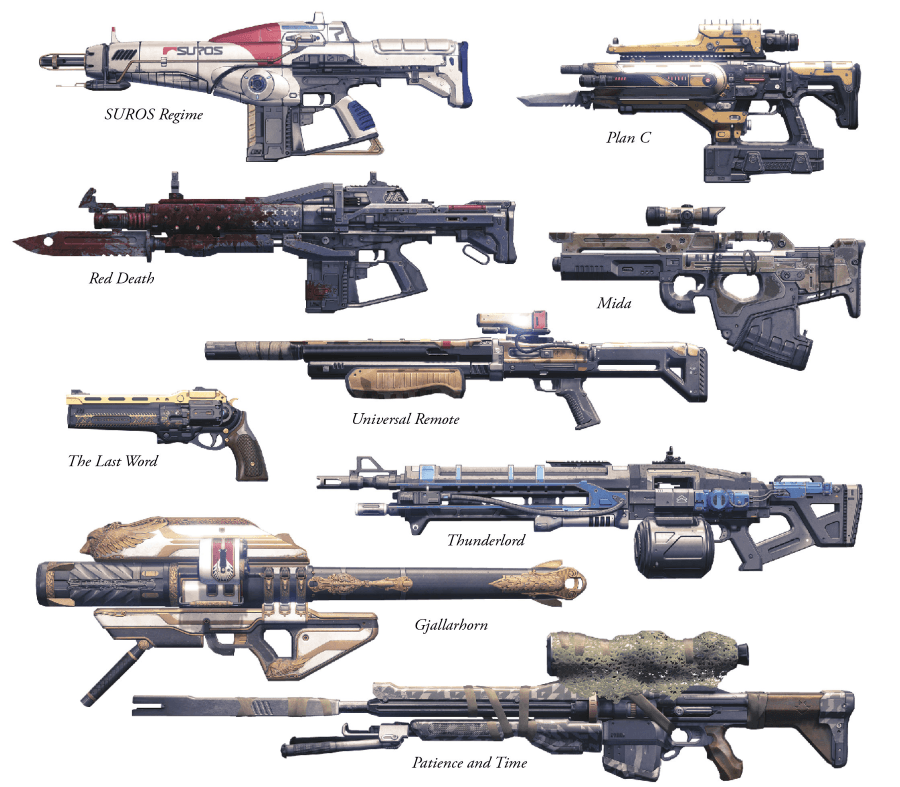 Destiny Weapons And Ar...