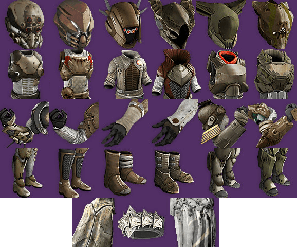 Those other 3 armors are the raid armor from house of wolves they