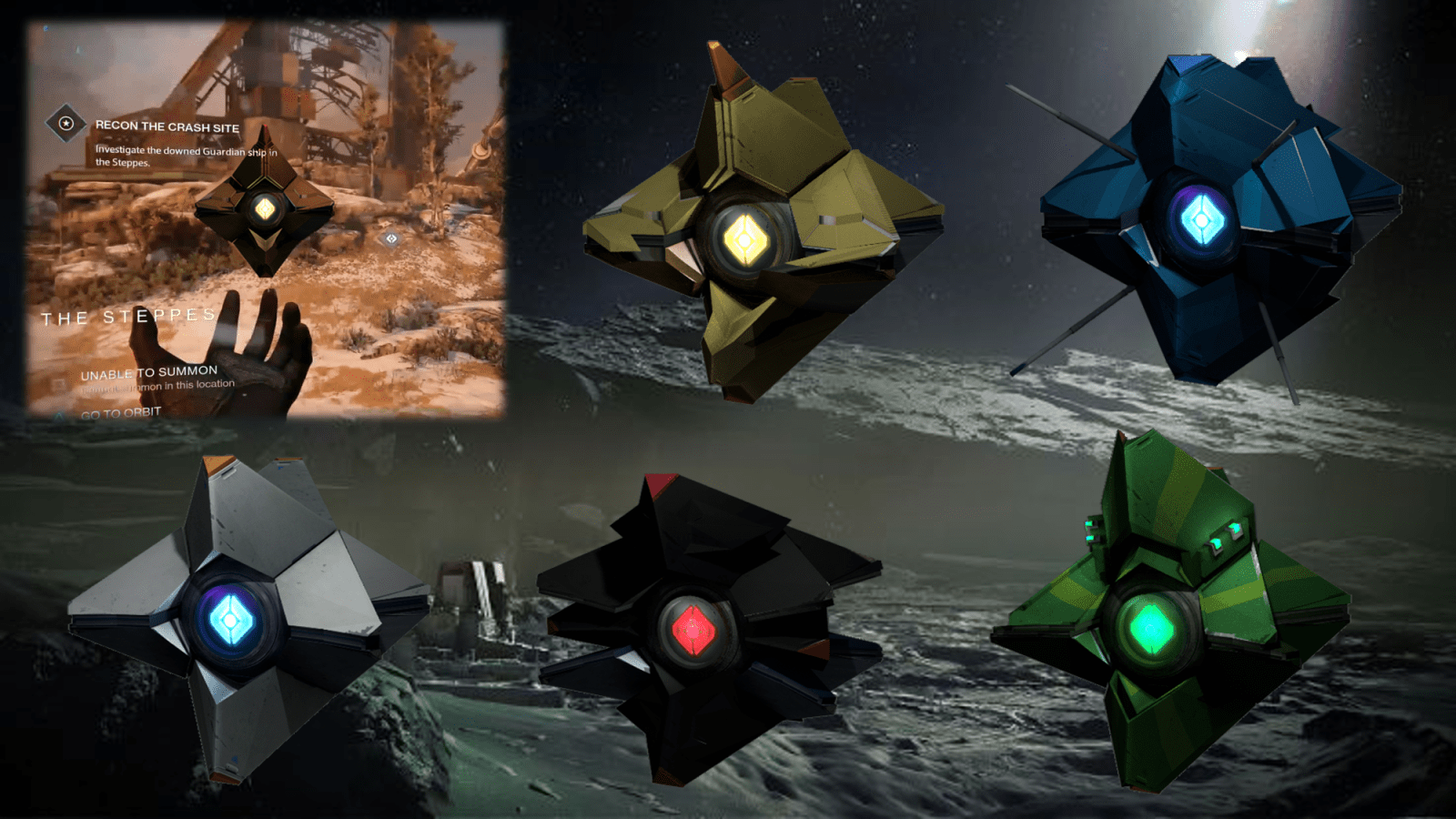 You can see actual destiny ghost shells in our database