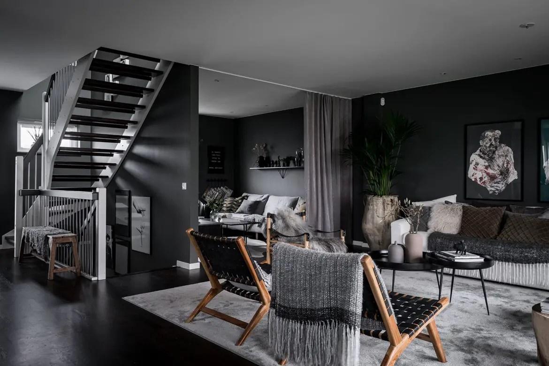 Idée Décoration Appartement Sombre   Decoration Couloir Moderne Good ...