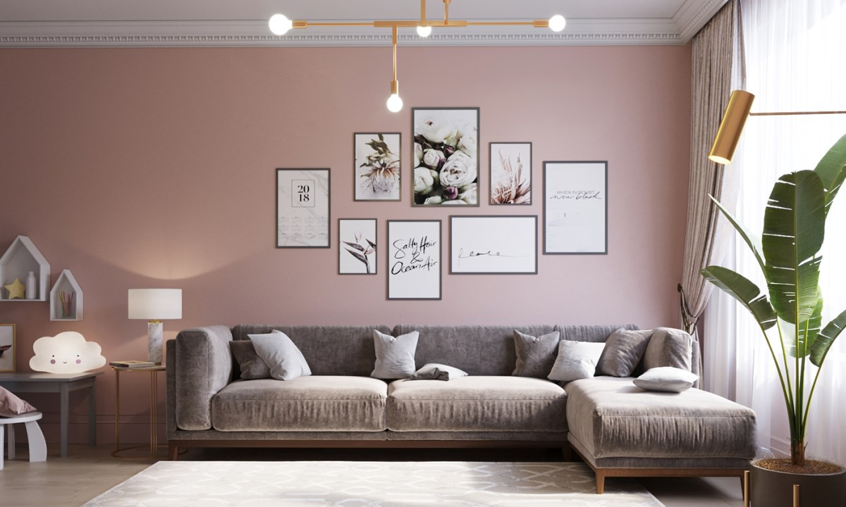 Oud Roze Gordijn Décoration Douce En Gris Et Rose - Planete Deco A Homes World