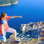 father and son travel in Europe, Croatia