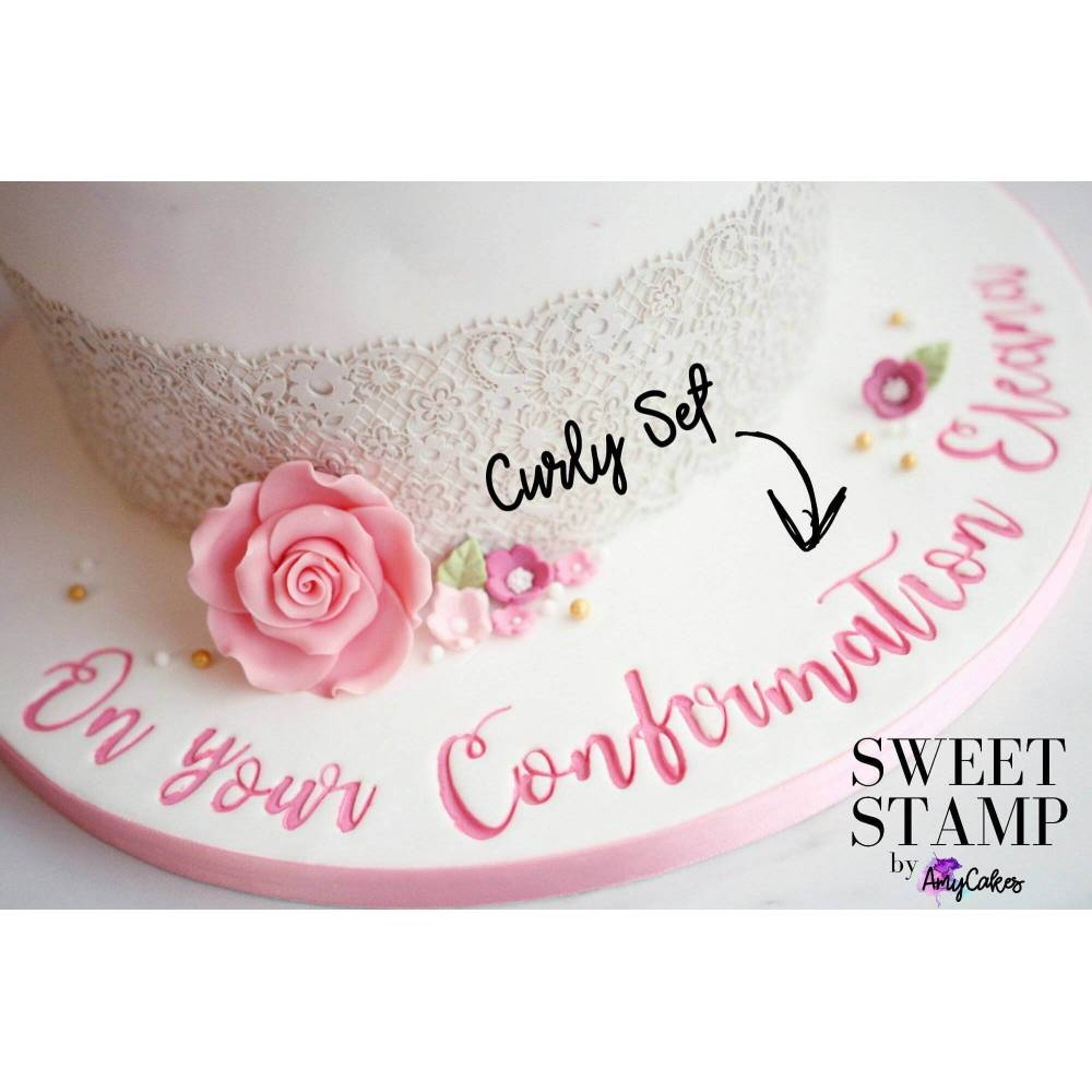Formation Decoration De Gateau Sweet Stamp Curly Minute Letters Embosser Planete Gateau Cake Design