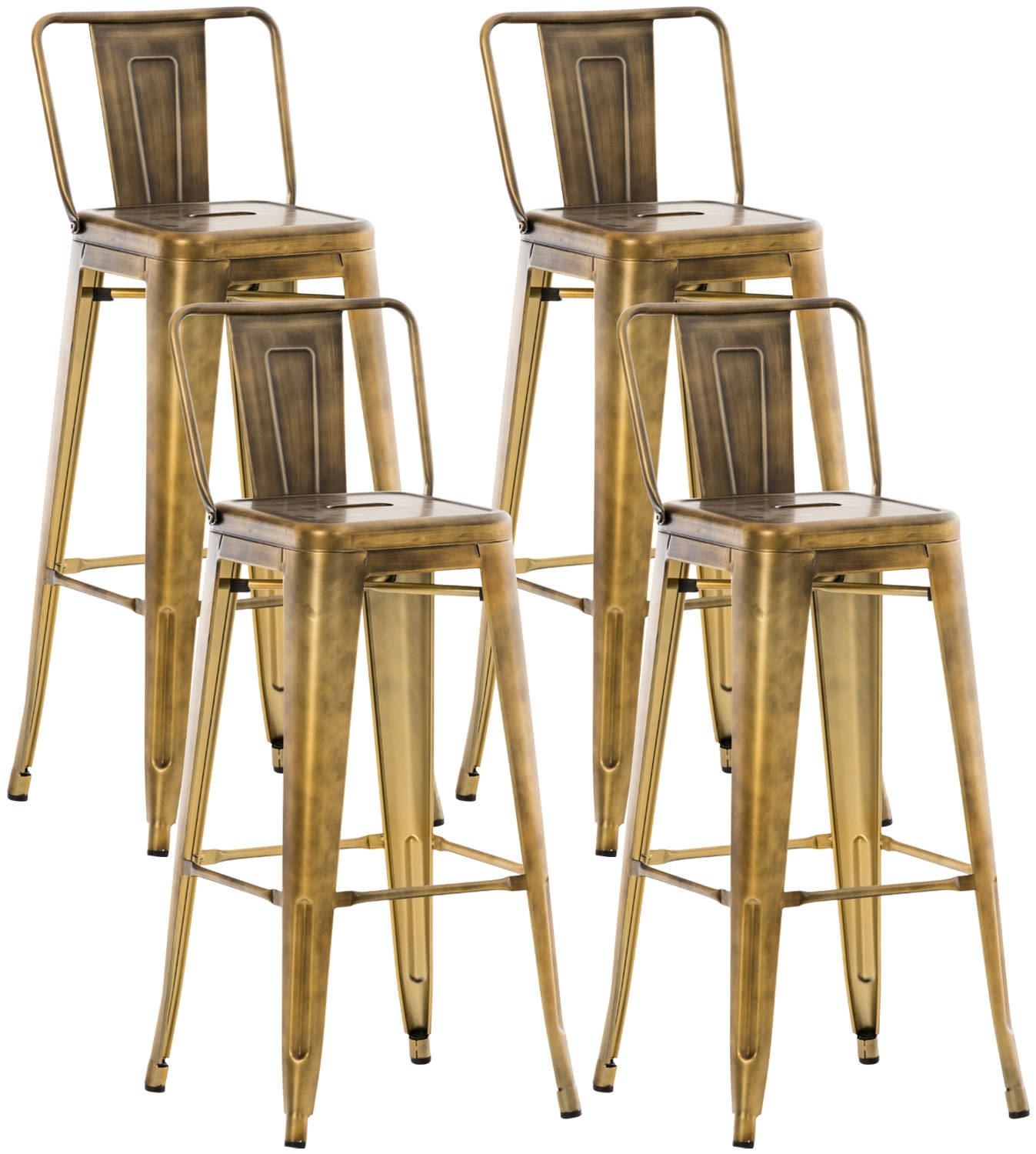 Lot De 4 Tabourets De Bar Mason I Clp