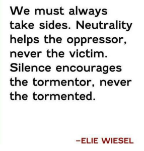 Elie Wiesel Take Sides