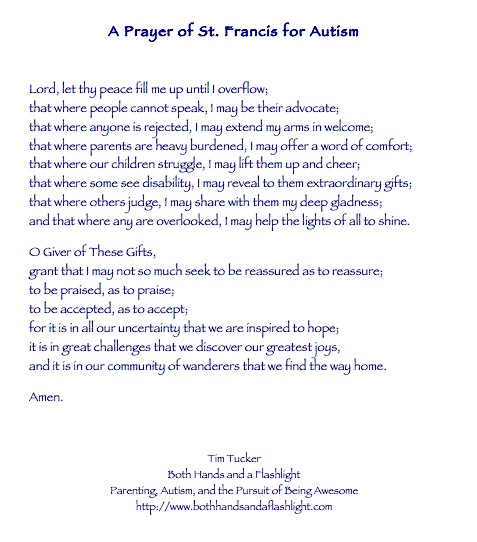 A Prayer of St Francis for Autism Autism Pinterest Saint - new sample letter in asking for a raise