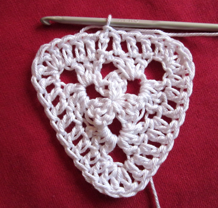Step 9 Christmas Crochet Bunting