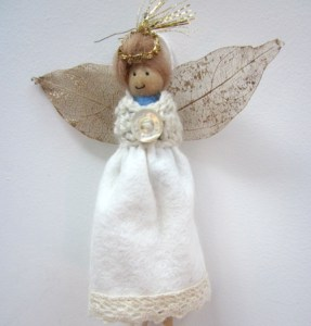 Christmas Angel - Dolly Peg Dolls