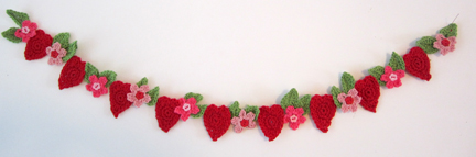 hearts and flowers bunting